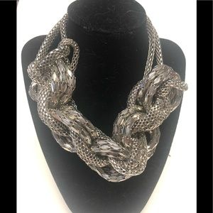 Jewelry - Sliver wrap rope statement chunky textured # 11D